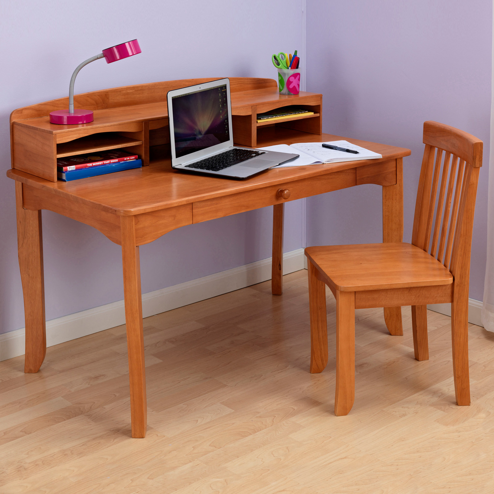 Kidkraft Avalon Desk With Hutch Kids Desks At Hayneedle