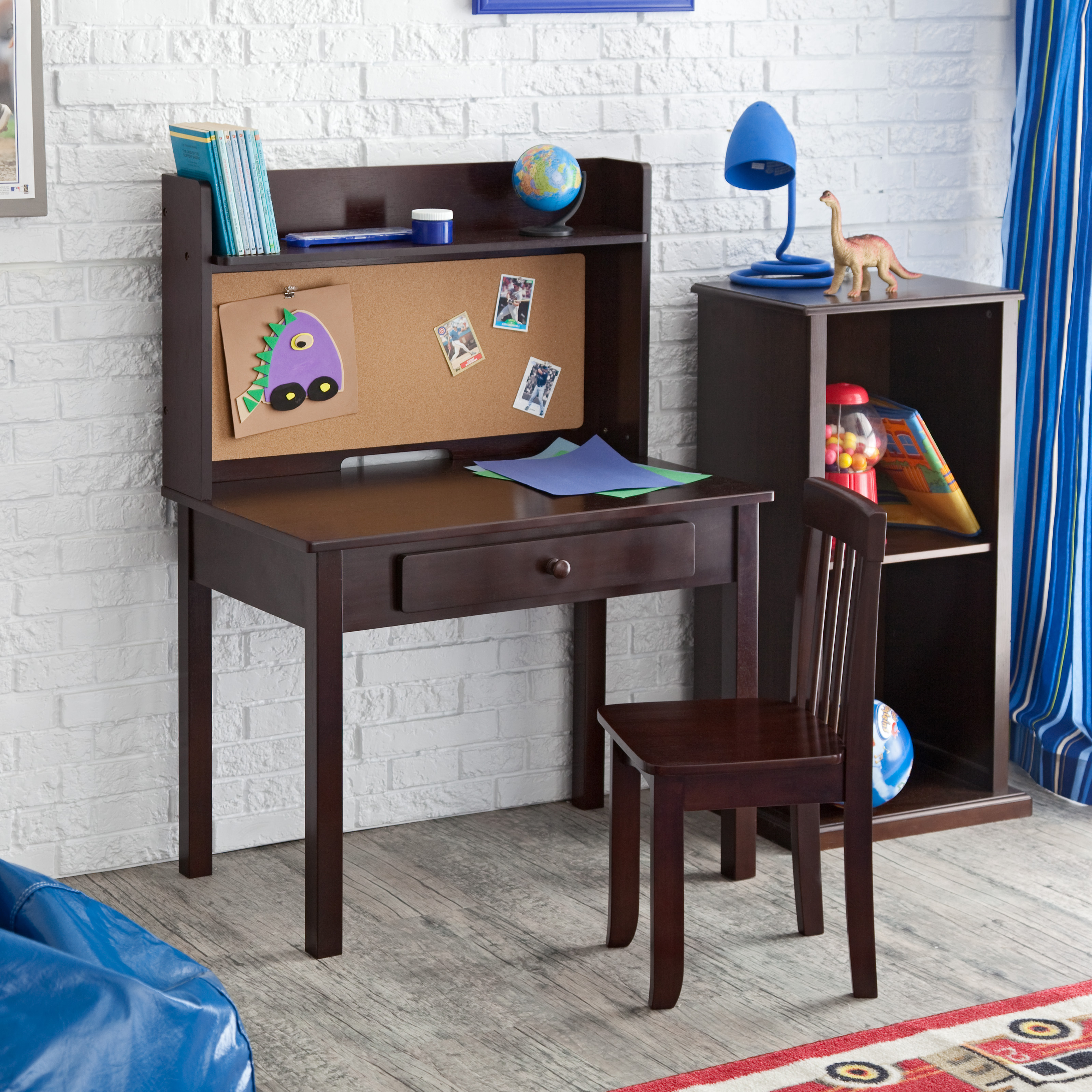 Kidkraft Pinboard Desk With Hutch Chair 27150 Kids