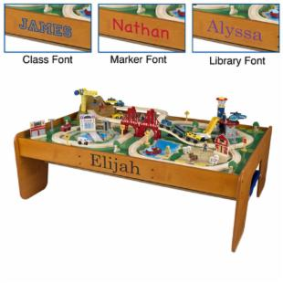 KidKraft Personalized Ride Around Town Train Table & Set