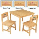  KidKraft Personalized Aspen Table &amp; 2 Chair Set