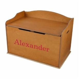 KidKraft Personalized Austin Toy Box - Honey