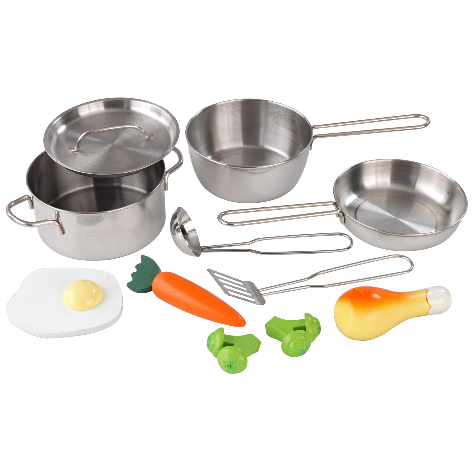 Kidkraft metal accessories set 63186 play kitchen for Articles de cuisine ricardo