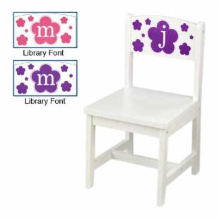 KidKraft Personalized Floral White Aspen Chair