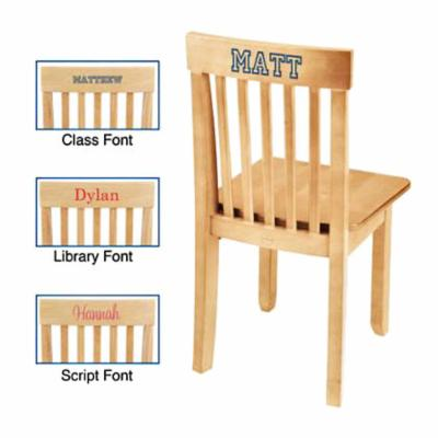  KidKraft Personalized Avalon Natural Chair