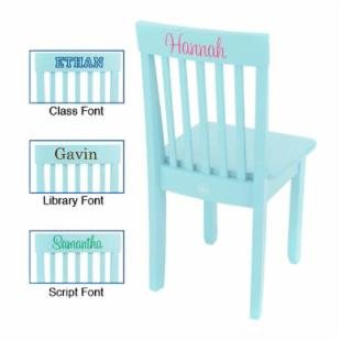 KidKraft Personalized Avalon Ice Blue Chair