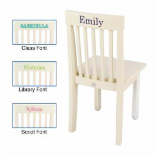 KidKraft Personalized Avalon Vanilla Chair