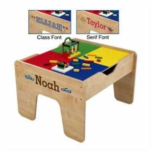 KidKraft Personalized 2-in-1 Activity Table with Lego Board