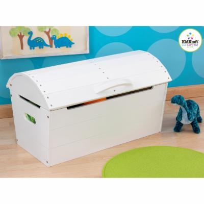  KidKraft Round Top Storage Chest   White