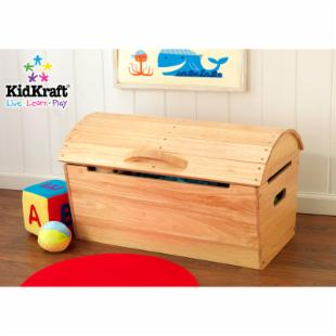 KidKraft Round Top Storage Chest - Natural