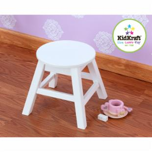 KidKraft Round Stool - White