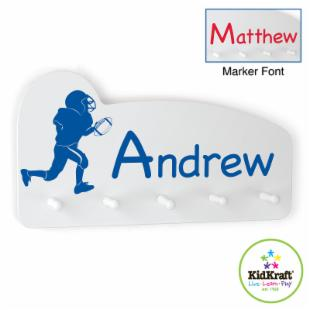 KidKraft Football Medal Holder - Personalized