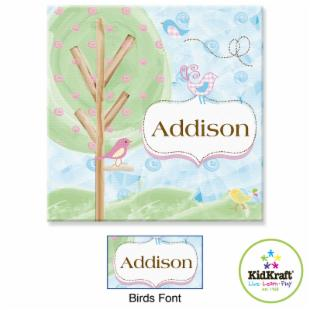 KidKraft Personalized 15 x 15 in. Canvas - Birds