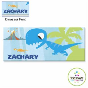 KidKraft Personalized Dinosaur 10 x 24 in. Canvas