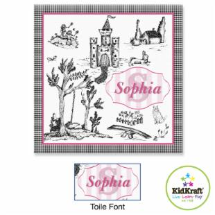 KidKraft Personalized 15 x 15 in. Canvas - Toile