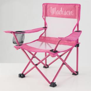 KidKraft Personalized Pink Camping Chair