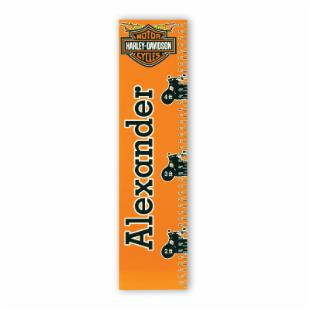 KidKraft Personalized Harley-Davidson® Boys Growth Chart - Serif Black