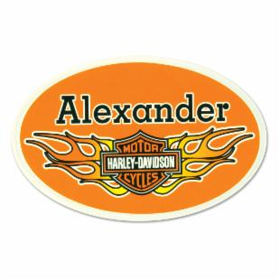 KidKraft Personalized Harley-Davidson&#174; Boys Oval Wall Plaque - Serif Black