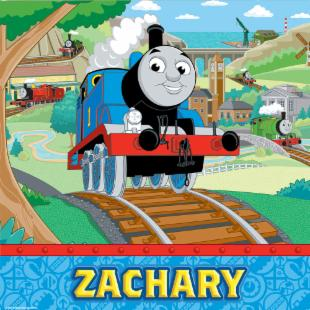 "KidKraft Personalized Thomas and Friends 15""x15"" Canvas - Yellow"