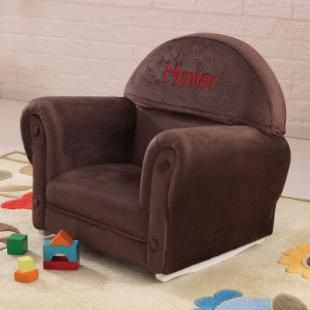 KidKraft Personalized Chocolate Velour Slipcover Rocker