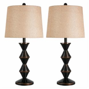 Kenroy 32142ORB Topsy Table Lamp Set