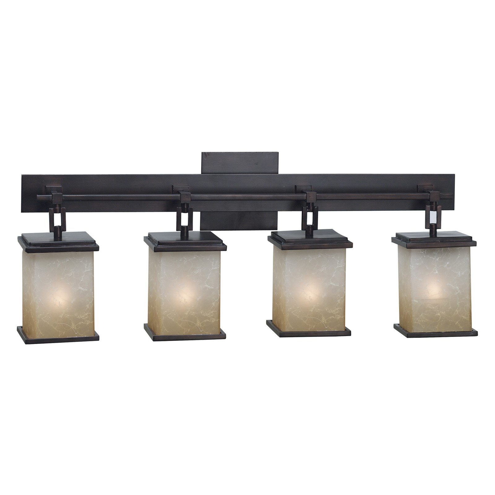 Kenroy Home Plateau 4-Light Vanity 03375 - 24W in. oil-rubbed bronze - Bathroom Vanity Lights at ...
