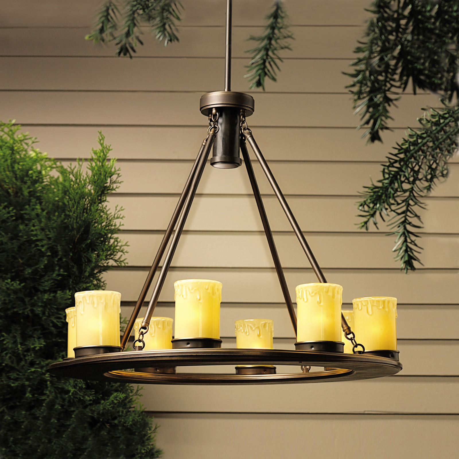 kichler oak trail 12 volt outdoor chandelier outdoor
