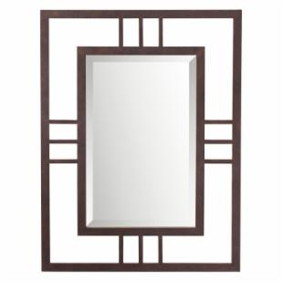 Quadrant Dark Bronze Wall Mirror - 26W x 34H in.