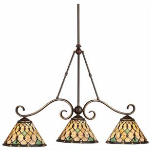 Kichler Pool Table-Three Lights/Incandescent Island Light-Oiled Bronze-36 inches