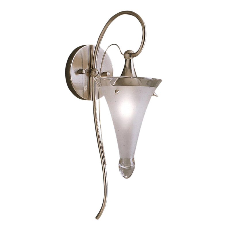 Kichler Raindrops Bathroom Sconce - 5.75W in. Brushed Nickel ...
