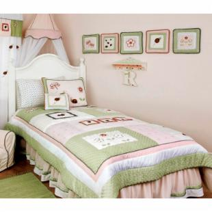 Kids Line Lady Bug Quilt Bedding Set