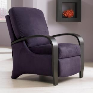 Marlon Push Back Microsuede Recliner