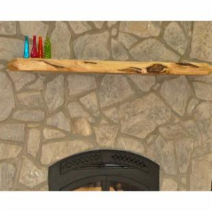 Kettle Moraine Hardwoods Morris Rustic Fireplace Mantel Shelf