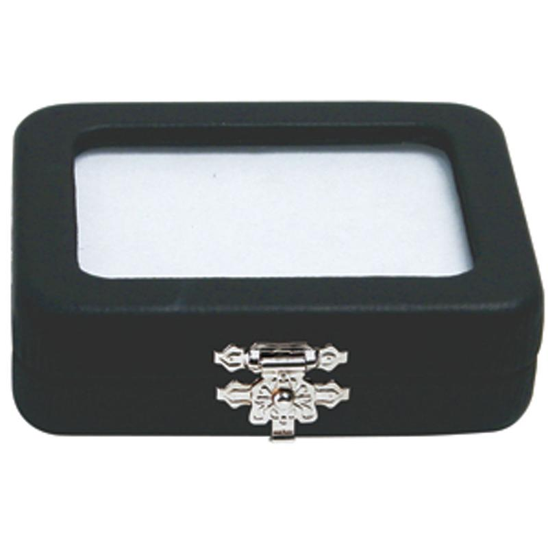 Kingsley North Glass Top Gem Boxes with Clasp KNI102-1