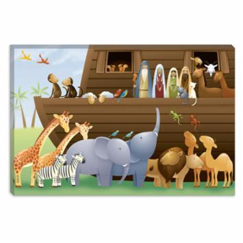  Noahs Ark Children Art Canvas Print