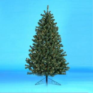 6.5 ft. Norway Pine Half Pre-Lit Christmas Tree