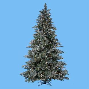 7.5 ft. Frosted Pine Pre-Lit Christmas Tree - 54 diam. in.