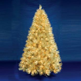 6.5 ft. Champagne Pre-Lit Christmas Tree