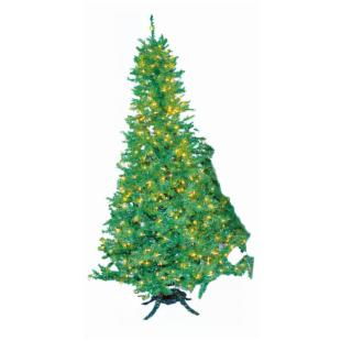 10 ft. Sugar Pine Slim Pre-lit Christmas Tree with Hinged Metal Base