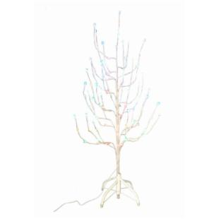 4 ft. White Twig Pre-lit Christmas Tree