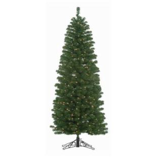 5 ft. Winchester Pine Pencil Pre-lit Christmas Tree with Metal Base