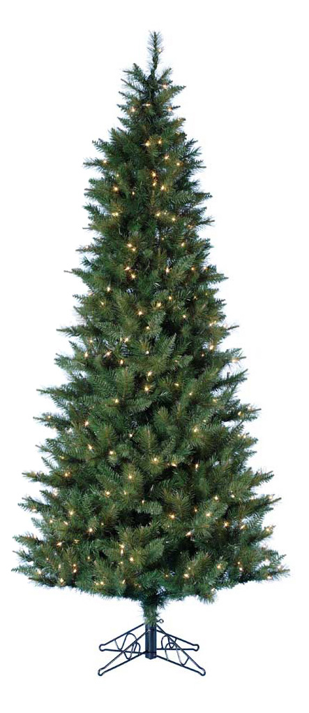 4.5 ft. Classic Green Pre lit Christmas Tree with Metal Base   Christmas Trees