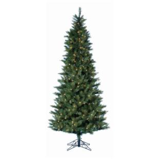 4.5 ft. Classic Green Pre-lit Christmas Tree with Metal Base