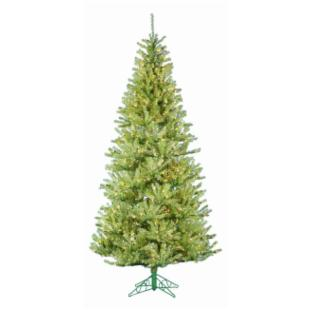 Apple Green Pre-lit Christmas Tree with Metal Base