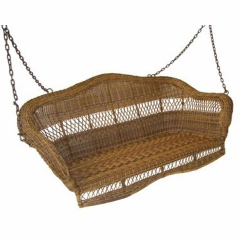 Sahara 4-ft. Resin Wicker Porch Swing, Walnut or White FREE Shipping!