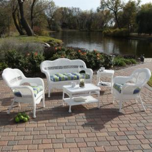 Sahara All-Weather Wicker Patio Set - Seats 4