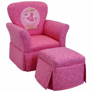 Kidz World Pinkalicious Skirted Rocker and Ottoman Set