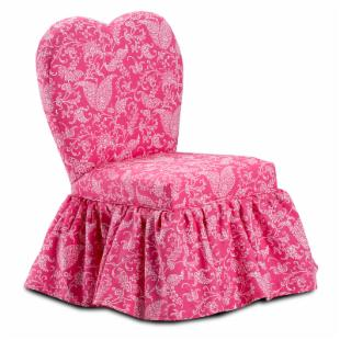Kidz World Small Paisley - Candy Pink Sweetheart Chair
