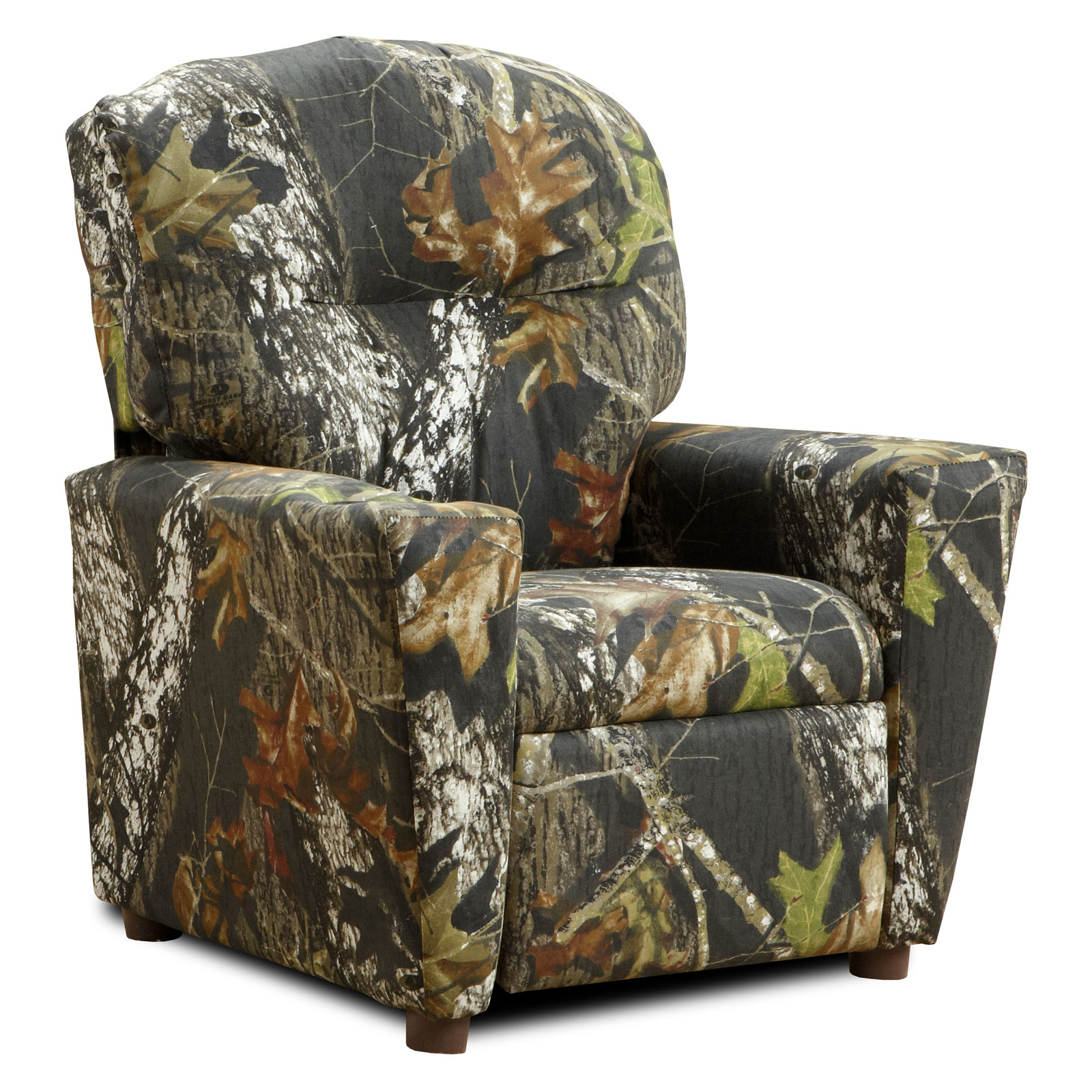 Kidz world mossy oak camouflage kid 39 s recliner at hayneedle for Camo chaise lounge