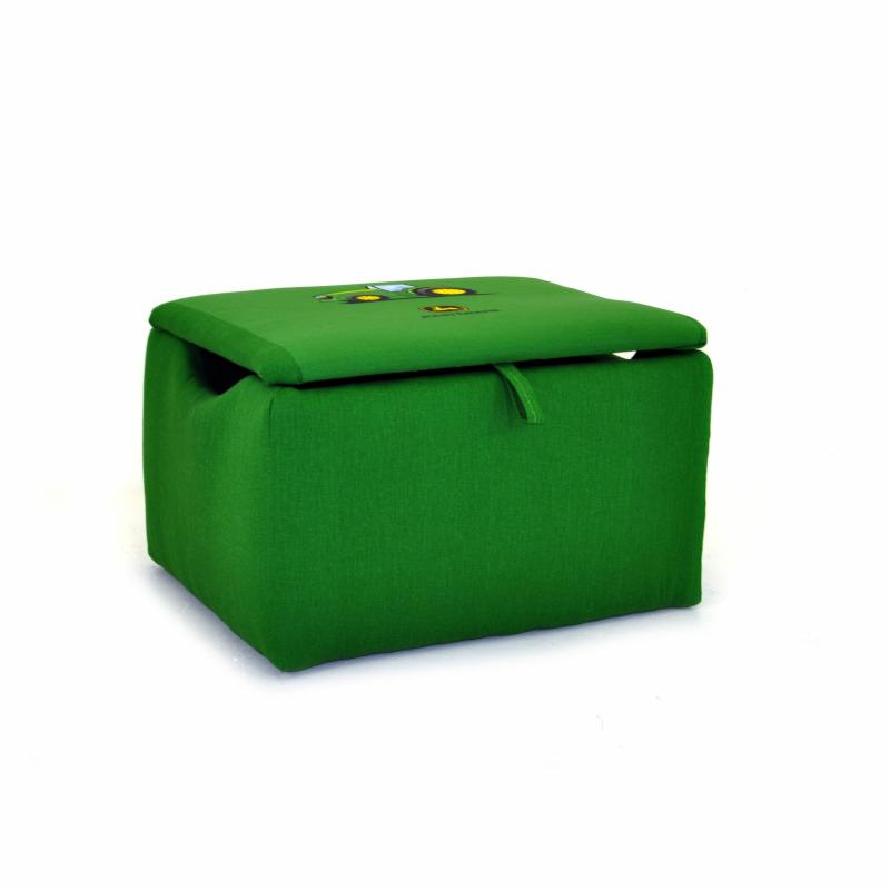 John Deere Collectibles Kidz World John Deere Green Boy's Upholstered Storage Box