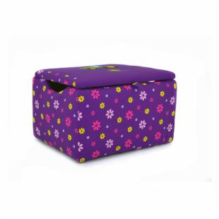 Kidz World John Deere Purple Girl&#39;s Upholstered Storage Box
